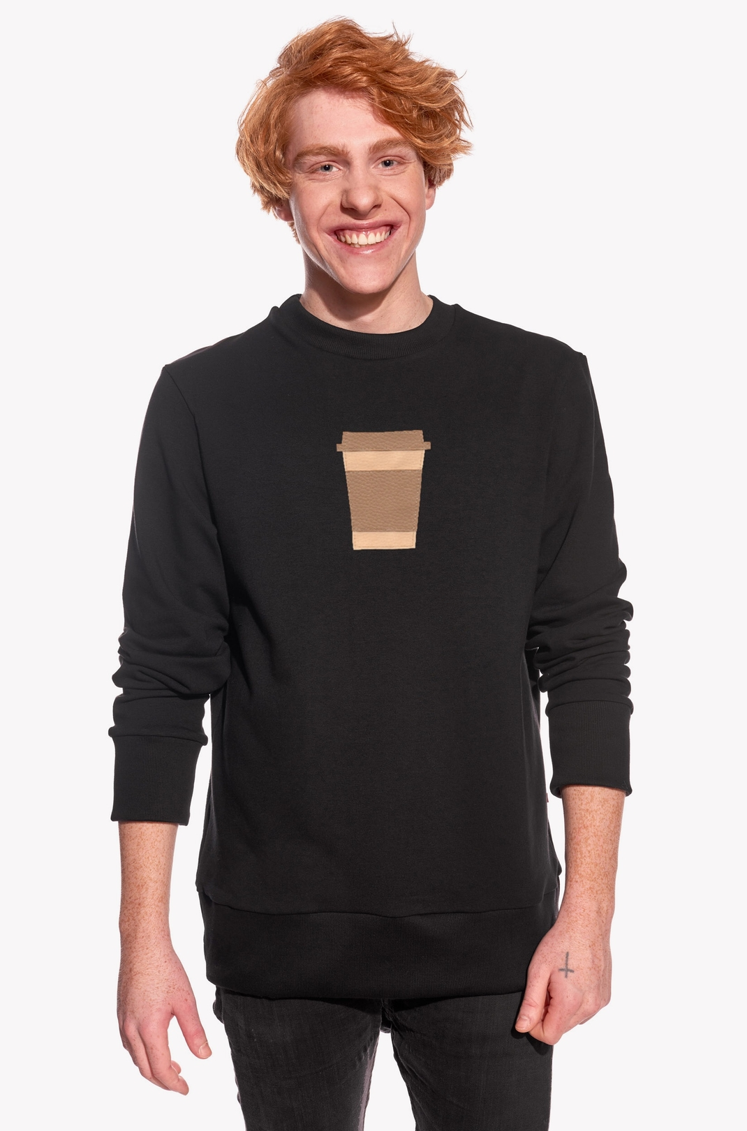 Hoodie with coffee