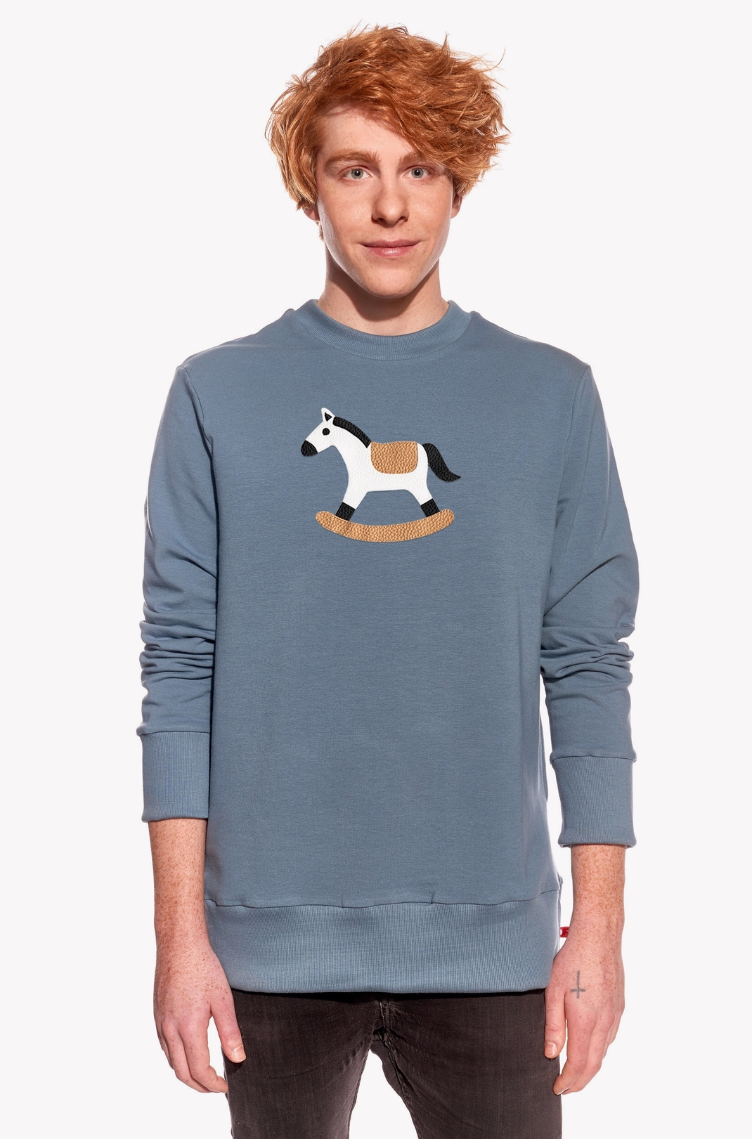 Hoodie with rocking horse