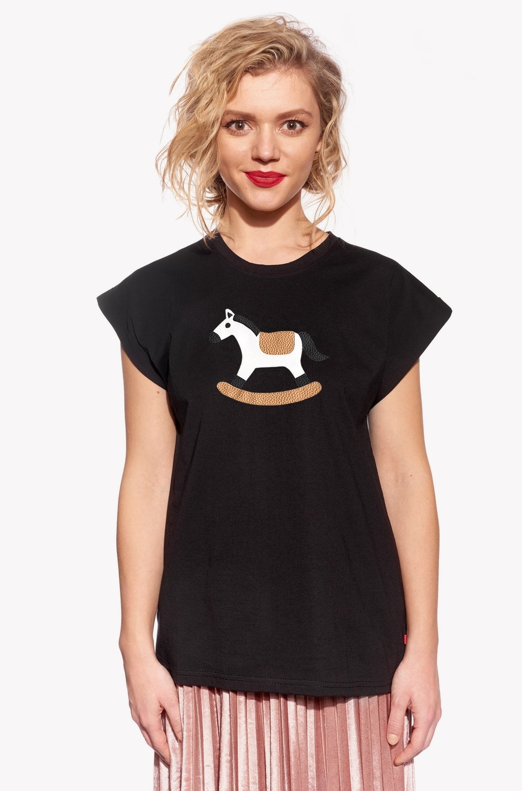 Shirt with rocking horse