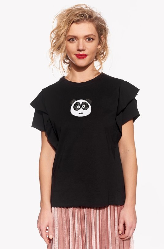 Shirt with panda bear