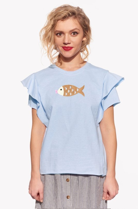 Shirt with fish