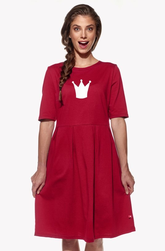 Dresses with crown