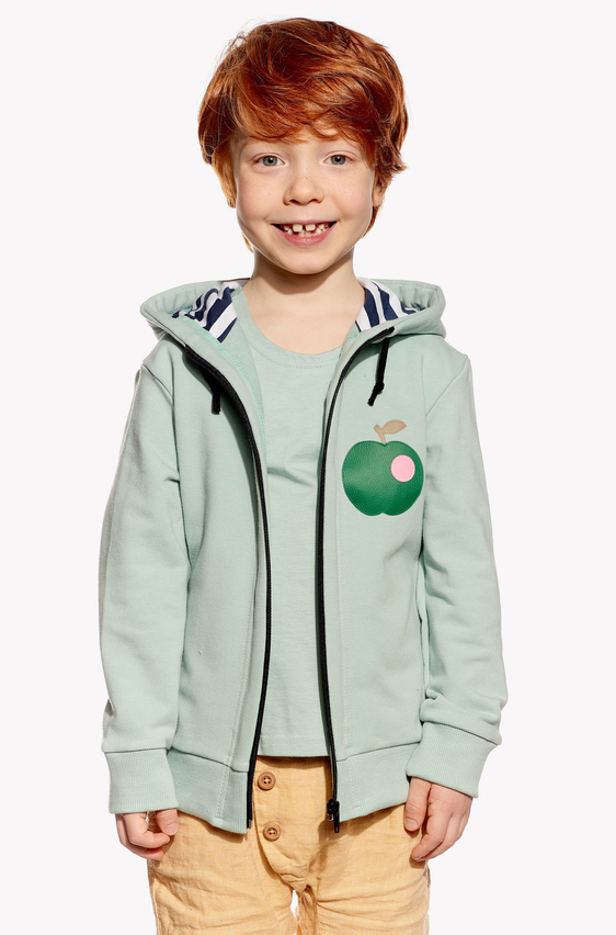Hoodie with apple